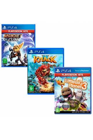 Ratchet & Clank + Knack 2 + LittleBigPlanet 3