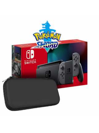 Nintendo Switch 2019 (серый) + Pokemon Sword + Чехол и защитная пленка Artplays