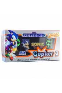 """SEGA Genesis Gopher 2 LCD 4.3"""" + 700 игр (зеленая)"""