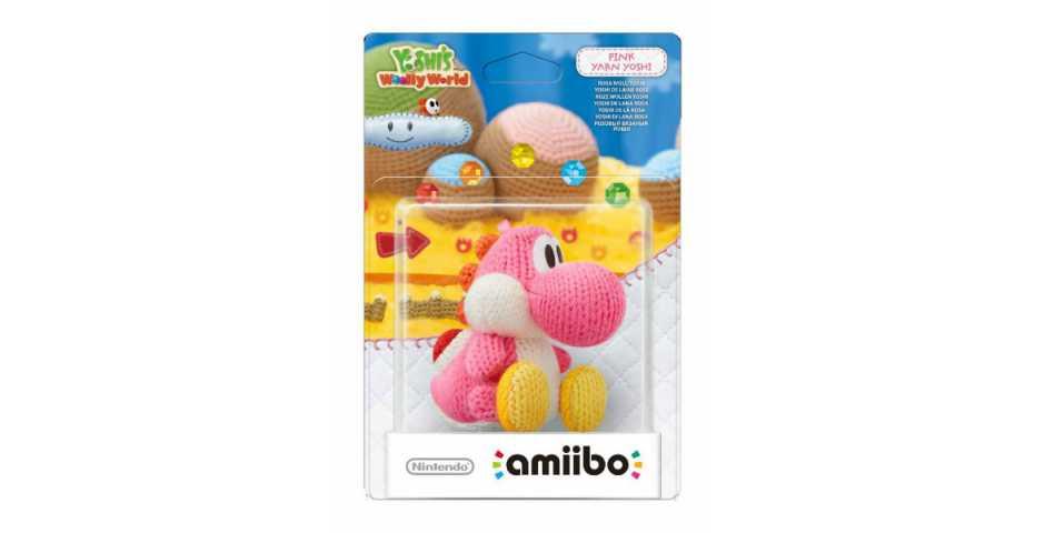 Фигурка Amiibo розовый вязаный Йоши