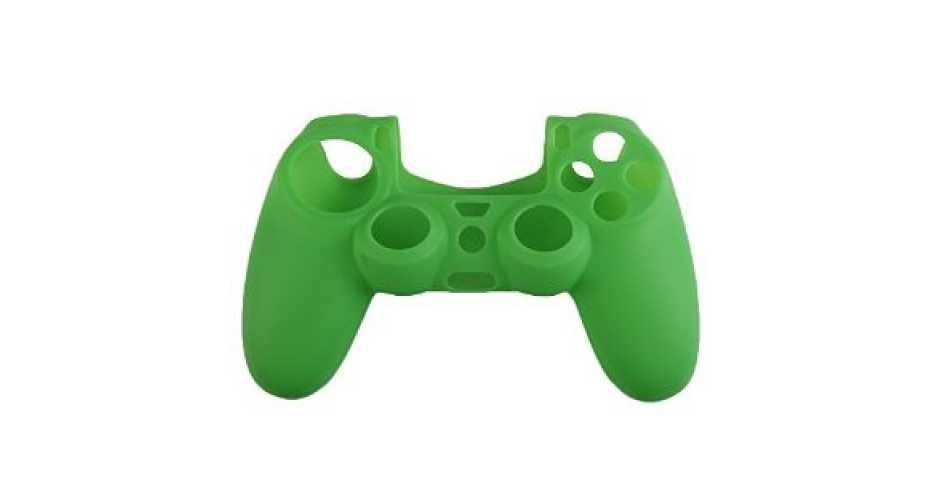 Силиконовый чехол для DUALSHOCK 4, зеленый