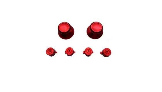 Стики цветные красные (металл) 7 в 1 [PS4]