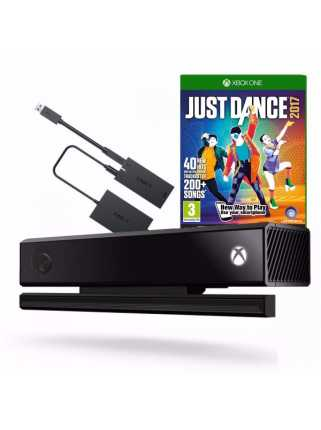 Kinect 2.0 + Kinect Adapter + Just Dance 2017 [Xbox One S/PC]