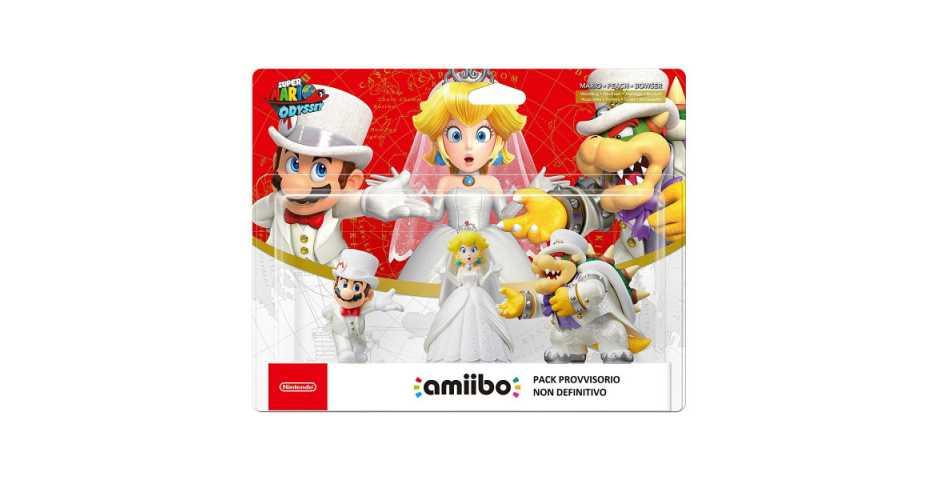 Комплект фигурок: Bowser + Peach + Mario (На свадьбе) (Super Mario Odyssey Collection)