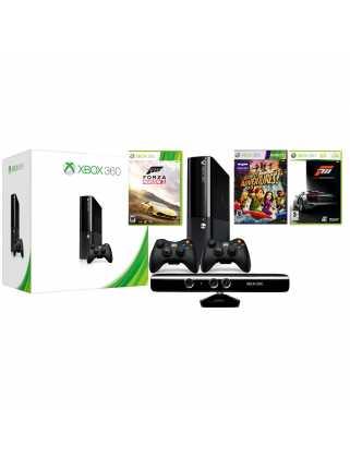 Microsoft Xbox 360 E-series (500 ГБ) + KINECT + 2 контроллера + 22 игры
