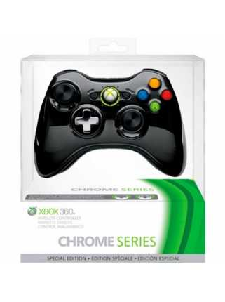 Геймпад Xbox 360 Wireless Controller Black Chrome