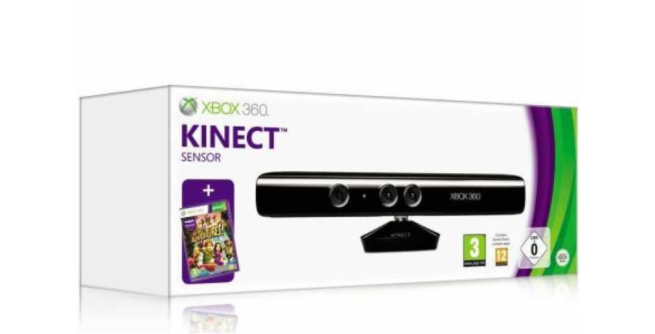 Сенсор Kinect для Xbox 360 + Kinect Adventures