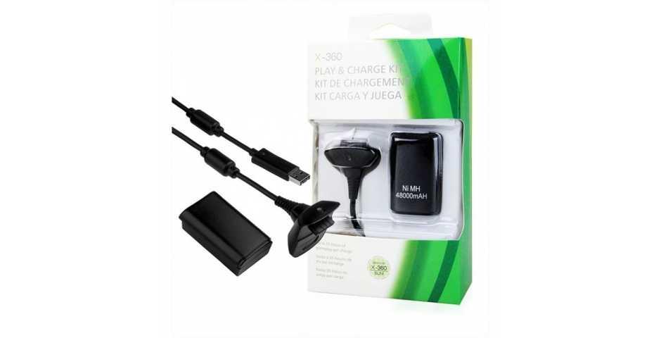 Зарядное устройство Play & Charge Kit Black 4800mAh