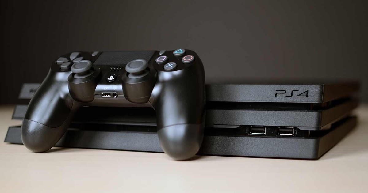 Внешний вид консоли PlayStation 4 Pro.